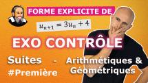 controle suite arithmetico geometrique premiere