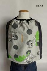 La serviette élastique ou serviette de cantine est un accessoire de puériculture facile pour débutant en couture. Ce projet couture est réalisable chez Bizibul à côté de Rezé, Bouaye et Bouguenais en Loire Atlantique.