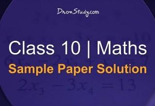 Class 10 Maths Sample Paper