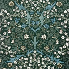 blue-and-white-flowers-on-green-william-morris