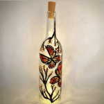 Beautiful Butterfly Wine Bottle With Fairy Lights Ii Painting Classes Boston Coursehorse Yaymaker