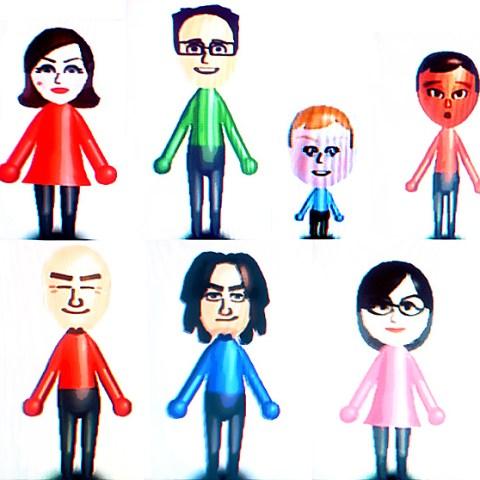 A bunch of Wii Mii avatars