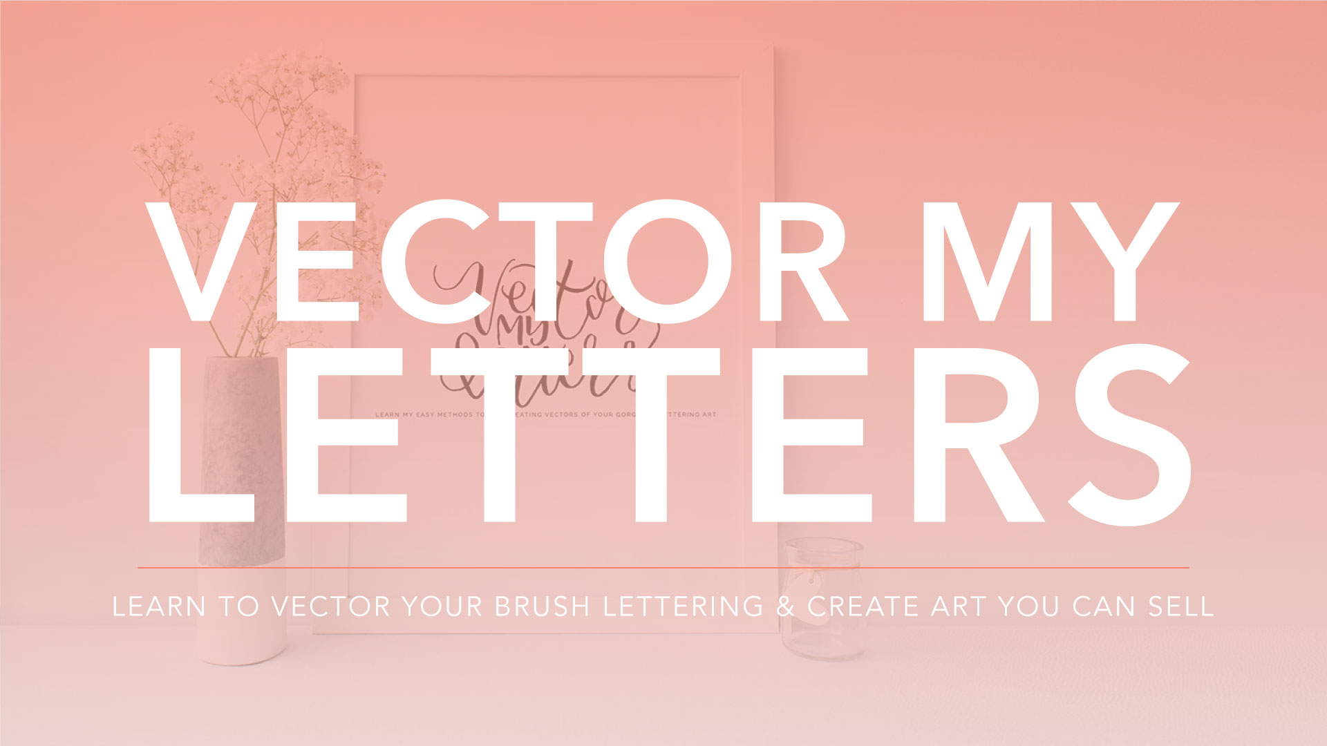 Vector My Letters is an online self-paced ecourse that teaches you how to digitize your lettering projects from hand lettering to calligraphy to brush lettering, and how to sell them!
