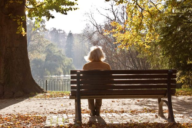 Contemplative Spiritual Caregiver on a bench