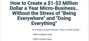 Ryan Lee - Micro-Business Workshop