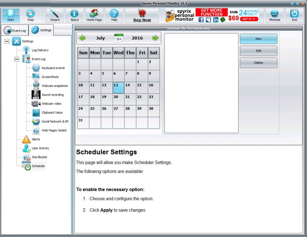 Spyrix Personal Monitor 11 Free Download