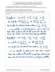 la methode avec colinearite pour montrer que des droites sont paralleles