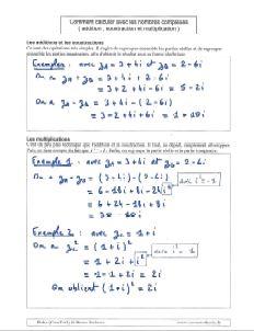 Comment faire calcul avec nombres complexes - calculer addition soustraction multiplication