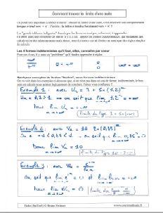 comment savoir calculer trouver determiner limite suite