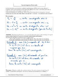 convergence ou divergence converger ou diverger suite