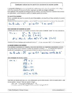 racine carrée et nombre au carré : definition et exemples pour pythagore