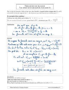 comment faire un raisonnement par recurrence pour avoir obtenir formule explicite suite en fonction de n ( 2 )