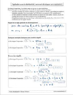 comment developper une expression distributivité développement avec nombres relatifs