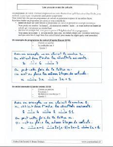 definition et exemples des programmes de calculs