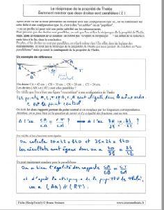 comment savoir montrer droites sont paralleles - exemple 2 - reciproque propriete theoreme de thales