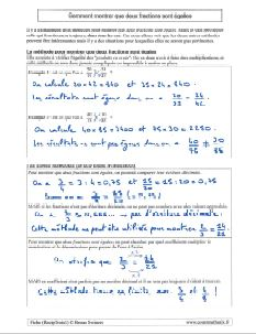 comment savoir montrer que deux fractions sont egales pour la reciproque de thales