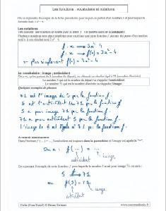 le principe - le vocabulaire - les notations des fonctions en 3e
