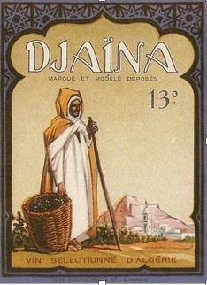 affiche publicitaire vin d'Algérie