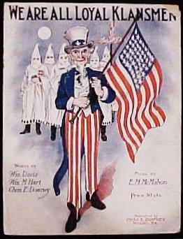 Klan-sheet-music - We are all loyal klansmen