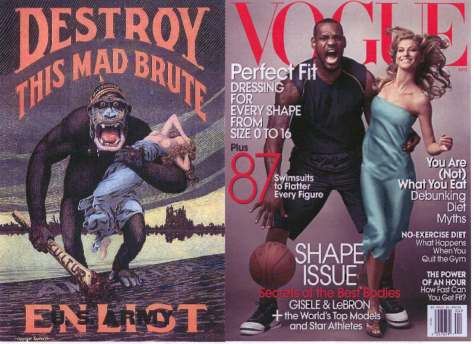 Lebron James on Vogue cover
