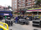 Big screen TVs and monster speakers being set up on 84th St.,in front of the Hotel Windsor. In Barranquilla, everyone is part of the action, whether you're in the stadium or not.