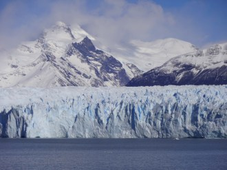 """Unlike most glaciers in the world, the Perito Moreno is """"in equilibrium"""". Enough snow falls in the Southern Patagonia Icefield (which Wikipedia says is the world's 3rd largest reserve of freshwater) to allow the glacier to gain ice at the same rate it loses it at the terminus."""