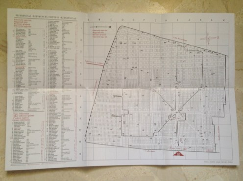 The map needed to navigate the cemetery's intricate avenues and streets.