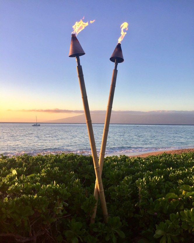 Before the Luau starts, you can take a walk around the property, which sits right on the beach - the perfect place to watch the sun go down.