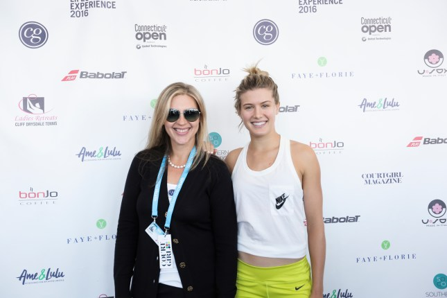 Genie Bouchard and COURTGIRL Founder