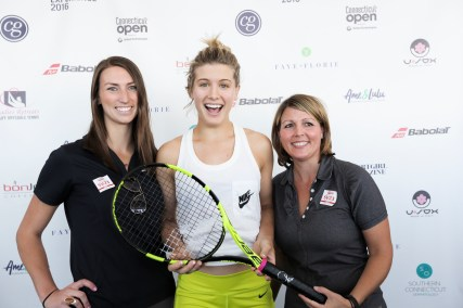 Genie Bouchard with her BABOLAT Racquet