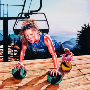 Ellery Hollingsworth, 2009 40 x 40 inches acrylic on canvas. This painting was commissioned by Nike for the Delicious campaign.