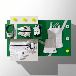 Simona Halep Wimbledon whites kit with a cross back by Adidas