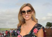 Former Miss World, Rosanna Davidson at the 2009 Courtmacsherry Strand Races. Picture: Martin Walsh.