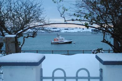Snow on the RNLI Lifeboat