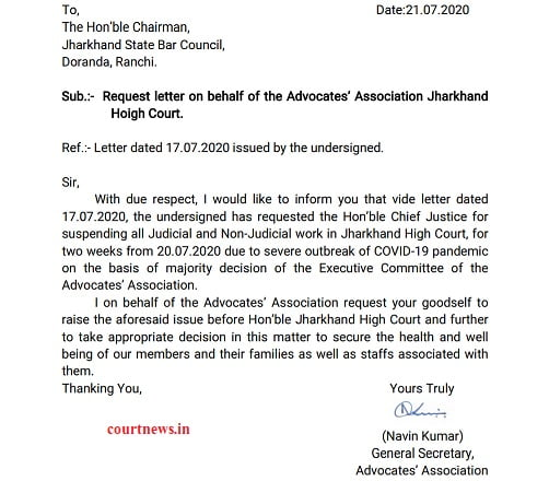 bar Association of jharkhand high court