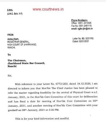 jharkhand high court notice