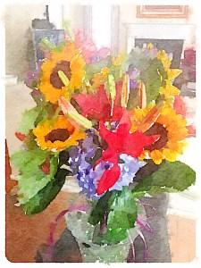 Sunflower series (original photo credit to my sister, Meredith Runion)