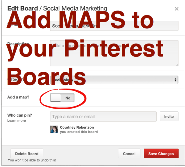 pinterest place pins board