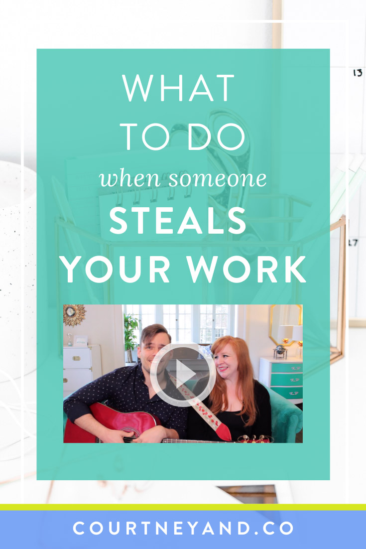plagiarism - what to do when someone steals your work