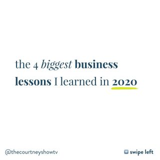 Swipe left ⬅️ and turn your sound ON 🎤 for the biggest business lessons I learned in 2020—there might be few nuggets for you and your business as well 😉 Inside, I'm talking about: ✔️What we can ALL learn from the influencers who got