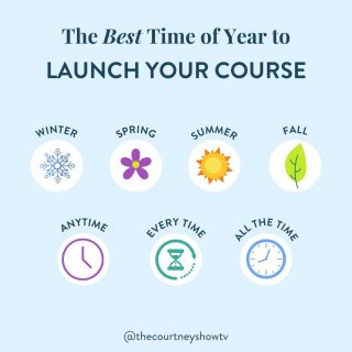 """Everyday, I talk with course creators who have made up their mind and tried to get way too clever:  """"I'm not going to launch in the Summer. Everyone's on vacation."""" """"I'm not going to launch in the Fall. Everyone's busy with the holidays."""" """"I'm not going to launch in the Winter. No one has any money after the holidays."""" """"I'm not going to launch in the Spring. Everyone's busy with the end of the school year stuff.""""  Real talk: There is no perfect time or bad time to launch a course, except for major holidays (and even then, I might challenge that because our evergreen funnels always see a big surge on Christmas day 👀).  You could make the argument that, for example, the Summer is a terrible time to launch because """"everyone"""" is on vacation—they're busy having fun, unplugging from their phones, and enjoying family time.  BUT you could make another argument that the Summer is actually a great time to launch because people are on vacation—they're relaxing, scrolling through their phone, focusing on themselves, etc.  And I speak from experience. I just got back from vacation, and I absolutely bought an online course while scrolling through reels while sitting on the beach. Yep.  I've spent anywhere from $20 to $2,000 on an online course—during the Summer.  I've also had my biggest multi 6-figure launches—during the Summer.  And I could apply the same logic (and back it up with my own experiences) for the other seasons. AND I could give you endless examples of successful course creators I know in both B2B and B2C niches who have launched at all times of year to all types of people who have seen success, regardless of when they launch.  Bottom line: Don't get sucked into the trap of """"I've got to launch in this [made-up optimal time] or my course won't succeed.""""  The timing is mostly secondary; the traffic is usually what makes it or breaks it for a successful launch (but that's another post for another time).  Don't let the scheduling stuff become a stall tactic. Pick a date"""