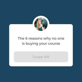 Swipe left for all 6 reasons. 👈  When you course doesn't fly off the shelves, it usually comes down to one of six problems. Or, sometimes a combination of those six problems.  It's not some unknowable, mysterious thing; it really IS just that simple. Isn't that nice?  Even nicer, I'm actually going to share with you those 6 things—what I call the 6 Ts—so you can figure out what's not working with your course and start getting the sales you want to see.  Follow 👉 @thecourtneyshowtv  Swipe left to learn about all 6 Ts and see which ones apply to you!  P.S. If you want to beyond diagnosing the problem and move into actually solving it, then be sure to check out my free class today: freecourseclass.com