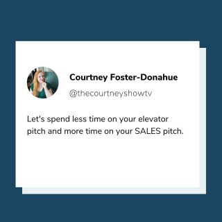 I feel like we're all really good at introducing ourselves by now. 😂  BUT just in case...  My elevator pitch: I'm Courtney Foster-Donahue, and I help business owners create and launch online courses so they can stop swapping hours for dollars.  And my sales pitch: 😉👉freecourseclass.com