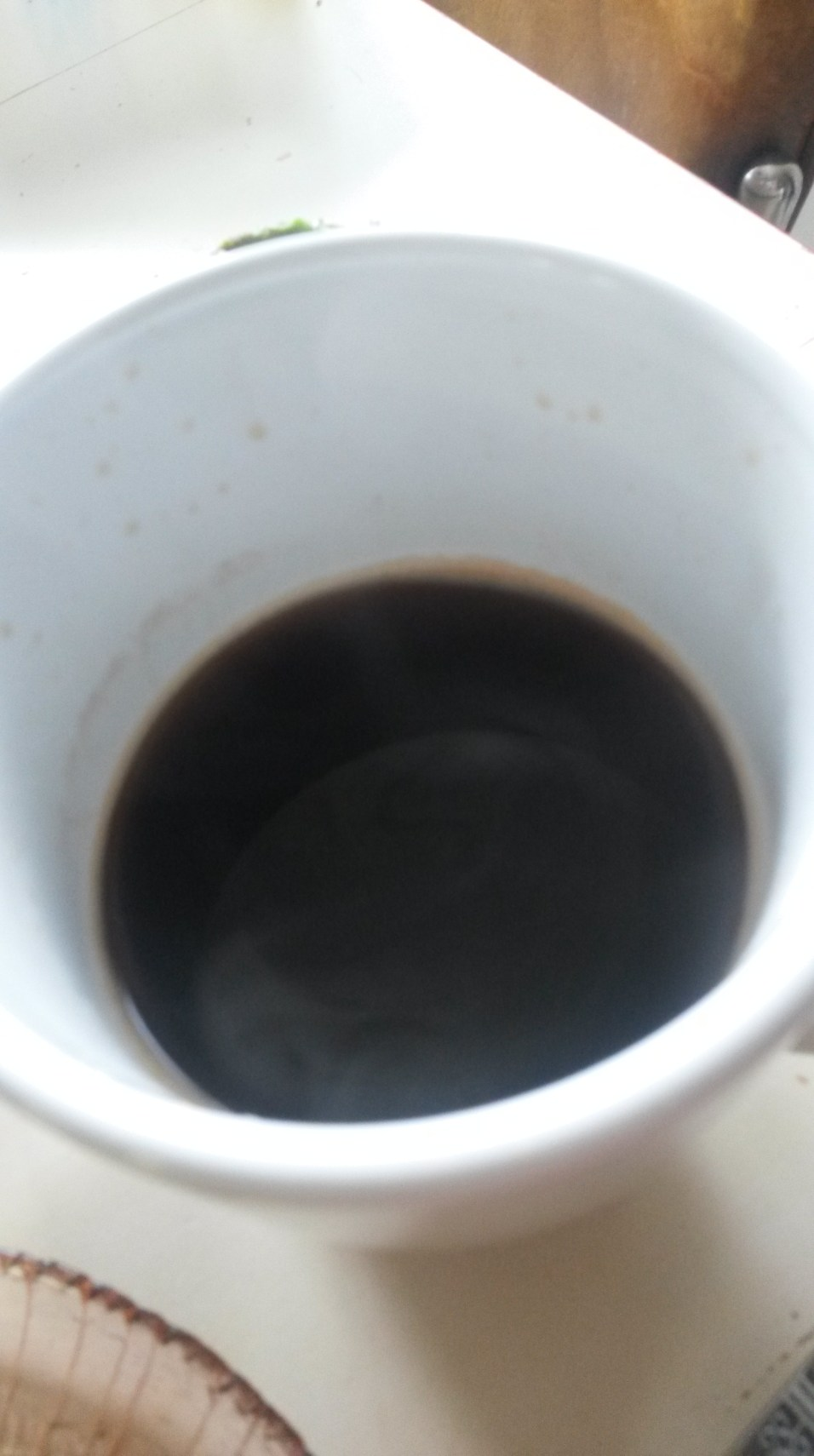 Coffee black! I haven't drank coffee in two days, no headaches!