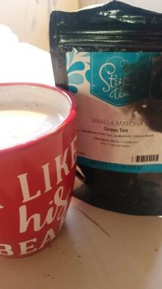 Vanilla Matcha with Almond milk