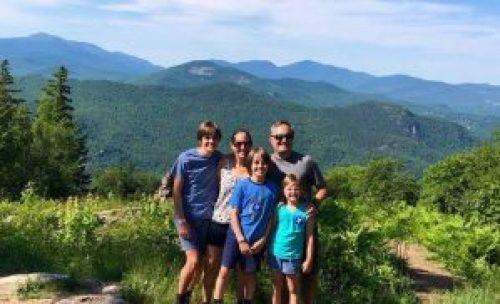 karen's family photo in the mountains