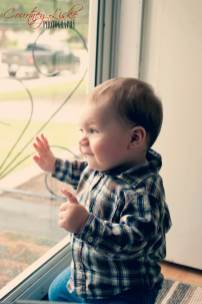 Regina Family Photographer - 1 Year Old - Gordon by Window