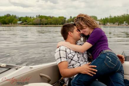 Regina Engagement Photography - Pam & Grant - Fishing Boat