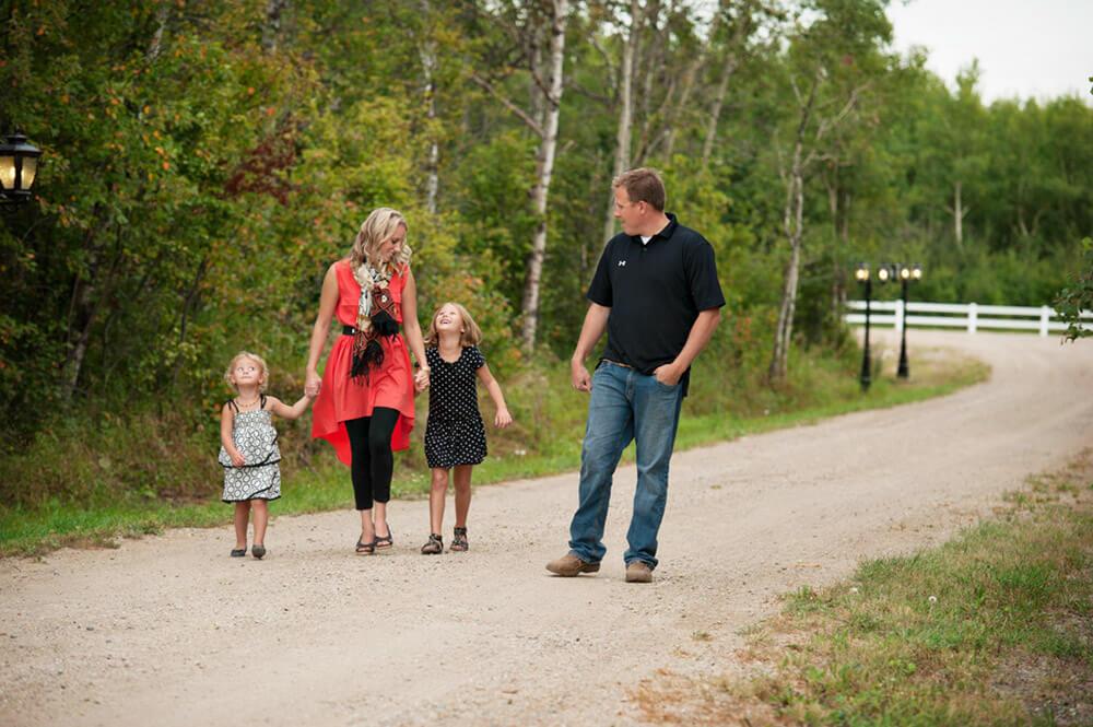 Regina Family Photographer - McCullough Family - Going for a Walk