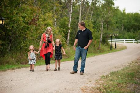 Regina Family Photographer - McCullough Family - Going for a Walk
